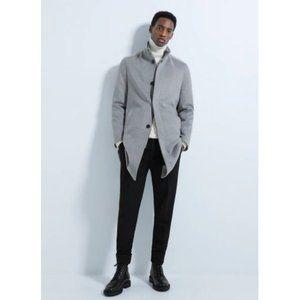 NWOT Zara Men's High Collar Coat